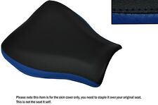 DESIGN 2 BLACK & R BLUE CUSTOM FITS HONDA CBR 600 07-12 FRONT LEATHER SEAT COVER
