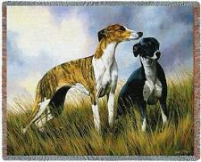 Throw Tapestry Afghan - Greyhound Pair by Robert May 2006