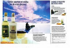 Publicité Advertising 1988 (2 pages) Les Vodkas Wyborowa et Zubrowka