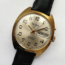 Slava Automatic - Classic mechanical USSR watch. 27 jew. Day & Date, Gold Plated