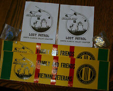 VIETNAM VETERANS LOST PATROL, BUMPER STICKERS, PINS, STICKERS, VETS FOR VETS