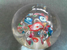 Beautiful Antique Vintage Millefiori scattered Cane work Glass Paperweight
