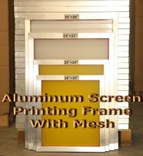 "6 Pack - 20"" x 24""Aluminum Frame With 110 mesh Silk Screen Printing Screens"