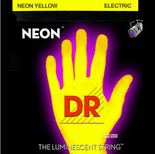 DR NYE-10 Neon Yellow Electric Guitar Strings 10-46 medium gauge