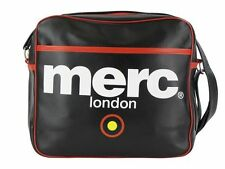 Para Hombre Merc London Target Messenger Fashion Airline Bag-Negro
