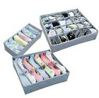 3 Pieces A Set Foldable Box Bamboo Charcoal Non-woven Fibre Zipper Storage Box