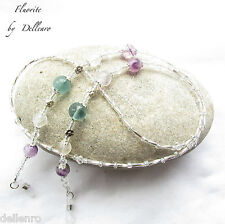 ✫FLUORITE✫ HANDCRAFTED GEMSTONE EYGLASS GLASSES SPECTACLE CHAIN HOLDER CORD