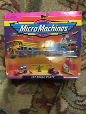 Micro Machines 1997 #37 Beach Party:Surf Woody,Manx Buggy,Windsurfer, 2 surfers.