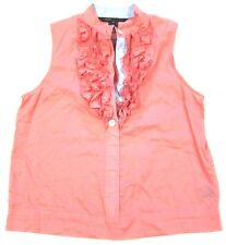 Marc by Marc Jacobs Cotton Ruffle Tank Top Blouse in Pink sz 4