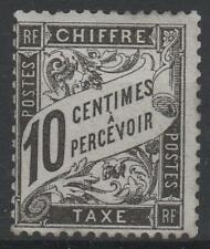 "FRANCE STAMP TIMBRE TAXE YVERT N° 15 "" DUVAL 10c NOIR "" NEUF x TB  P208"