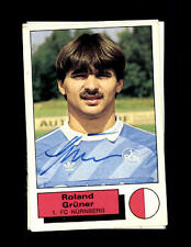 Roland Grüner 1 FC Nürnberg Panini Sammelbild 1986 Original Sign+ A 144203