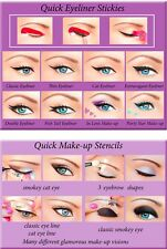 2in1 Quick Makeup Stencils+Quick Eyeliner Stickies SPECIAL Offer ORIGINAL UK2