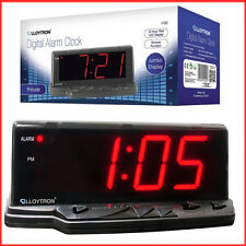LED Display Jumbo Digital Alarm Clock Prelude LLOYTRON 12 Hrs Red J102 Model