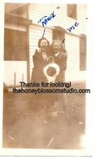 Max And Me Holding a Bedpan Vintage Photo Photograph Candid Picture Found Art