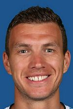 Football Photo EDIN DZEKO Manchester City 2013-2014