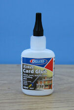 AD57 2 x 50ml Bottle Deluxe Material Roket Instant Card Glue FREE Tracked48 Post