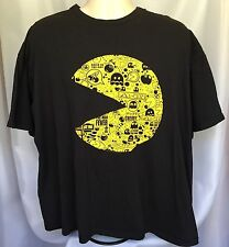 Mens Pac Man T Shirt Video Game Black Yellow Size XXL ? Crew Neck Cotton