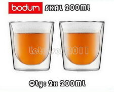 IN BOX BODUM SKAL DOUBLE WALL CLEAR THERMO-GLASSES x2 200ML