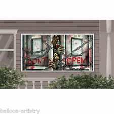 1.6m Halloween Horror Zombies Dead Party Decoration Plastic Giant Banner Sign