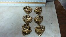 ox brass stamping finding  BIRD FLOWERS 3 pair jewelry makers lot A27