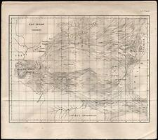 WORLD MAP-GULF STREAM E CORRENTI-A. MERILLE-1858-GIORNALE DELL'INGEGNERE-L739