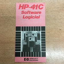 rare catalogue Calculatrice Hewlett Packard HP-41 Software Logiciel calculator