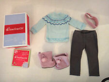 NEW American Girl Frosty Fair Isle Sweater Fleece Boots Snowflakes Winter My AG