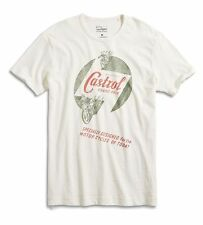 Lucky Brand - NWT - Mens XXL - White Castrol Oil Grand Prix 100% Cotton T-Shirt