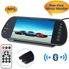 "7"" TFT LCD Color 16:9 HD USB Bluetooth MP5 FM 2-CH Car Rear View Mirror Monitor"
