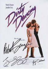 DIRTY DANCING - PATRICK SWAYZE & ORBACH & GREY SIGNED A4 PP POSTER PHOTO