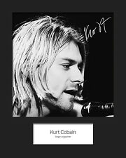KURT COBAIN #1 10x8 SIGNED Mounted Photo Print - FREE DELIVERY