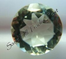 Natural 7mm Loose Round Cut 1.23ct Green Amethyst AAA