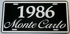 1986 86 MONTE CARLO METAL LICENSE PLATE 350 400 454 SS LOWRIDER NASCAR CHEVY