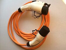 Renault Kangoo ZE   EV Charging Cable 16amp 5m orange Type 1 to Type 2. EVs
