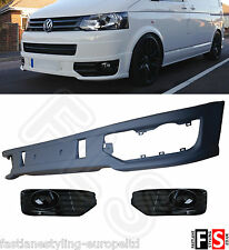 VW T5 Transporter Lower Sportline Front Spoiler Splitter Lip PU Plastic Facelift