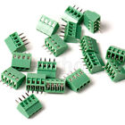 5x 4-way 4 Pin Screw Terminal Block Connector 2.54mm Pitch PCB Mount WS