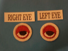 RIGHT EYE~LEFT EYE EMBROIDERY APPLIQUE PATCH EMBLEM LOT (36 DOZEN)