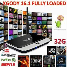 2G+32G Android 5.1 Smart TV BOX XGODY 16.1 Fully Loaded Quad Core WIFI Media 3D