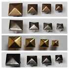 50 or 100 Pyramid Studs Rock Metal Goth Leather Shoes 6mm-12mm Different Colours