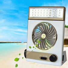 3 in 1 ABS Portable Mini Fan LED Table Lamp Flashlight Solar Light for Camping
