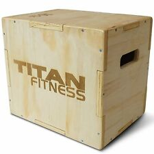 "Titan Fitness 12"" 14"" 16"" Wood Plyometric Box HD Plyo Box Jump Exercise Training"