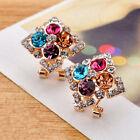 NEW Elegant Fashion Women Lady Girls Crystal Rhinestone Flower Stud Earrings