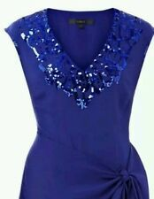 BNWT * COAST * DITA DRESS, 8(UK), BLUE EMBELLISHED, WEDDING,RACES,CRUISE