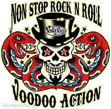 Non Stop Rock Roll Voodoo Action Sticker Decal Ray VR31