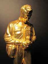 ANTIQUE PHOTOGRAPHER'S TROPHY STATUE GOLDEN DR NETZEL CHICAGO SKOKIE IL DECORATE