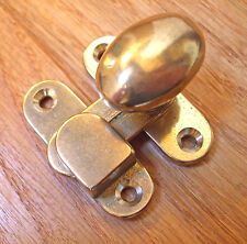 Cupboard door knob catch, brass 12600B