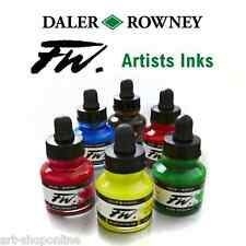 Daler Rowney FW Ink Primary Colours Set of 6 Drawing Inks