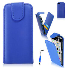 Vertical Flip Card slot Leather Phone Case Cover For iPhone 4S 5 5S +Free Stylus