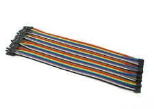 40pcs in Row 40P Dupont Cable 20cm 2mm switch to 2.54mm 2P-1P  wire for Arduino