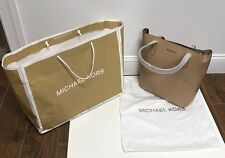 Michael Kors Large NS EMRY Tote Leather Purse Bisque Shopper $298 Brown Tan NWT